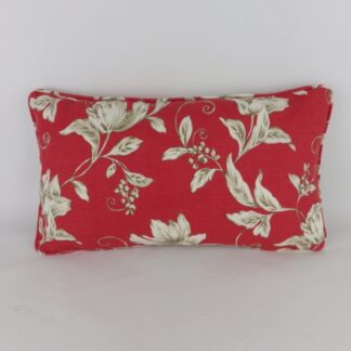 Red Floral Toile Cushion