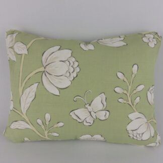 Jane Churchill Davenport Green Butterfly Floral Cushion