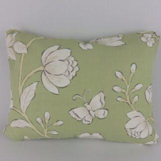 Jane Churchill Davenport Green Butterfly Floral Cushion