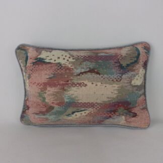 Duck Egg Blue Pink Chenille Cushion