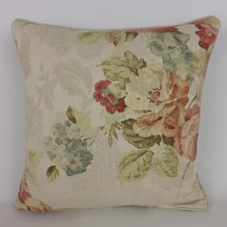 Natural Linen Faded Floral Cushions