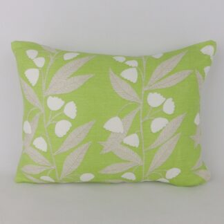 Spring Green White Floral Cushions