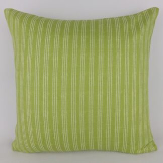 Green Ticking Stripe Cushions