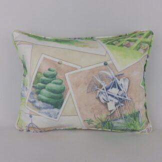 GP & J Baker Opera Postcards Garden Lumbar Cushions