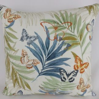 Jane Churchill Evelyn Butterfly Floral Cushion