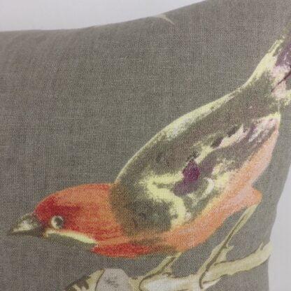 Grey Bird Floral Cushion