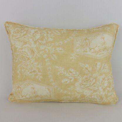 Sanderson Vignette Yellow Toile Cushion