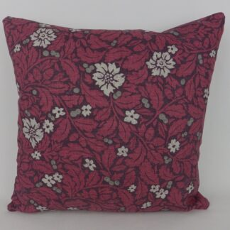 Red Acorn Oak Leaf Linen Cushions