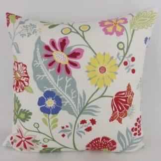 Bright Scandinavian Floral Cushion