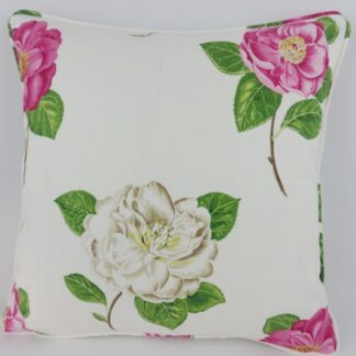 Sanderson Pink Floral Cushion