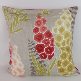 Large Red Pink Modern Delphinium Cushions