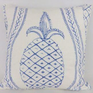 Large Designer Blue Pineapple Cushions