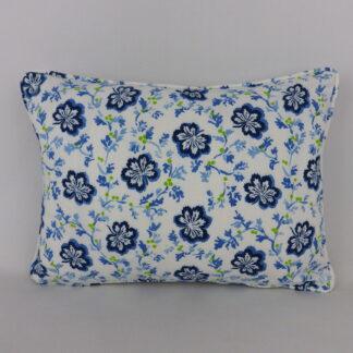Blue White Trailing Leaf Cushions