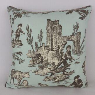 Grey Blue Toile Cushions