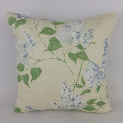 Sanderson Blue Lilacs Floral Linen Cushion