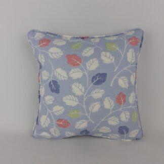 Jane Churchill Woodale Blue Leaf Print Cushion