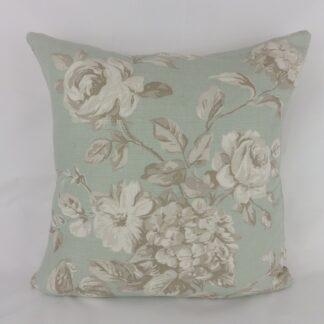 Duck Egg Blue Vintage Floral Cushions