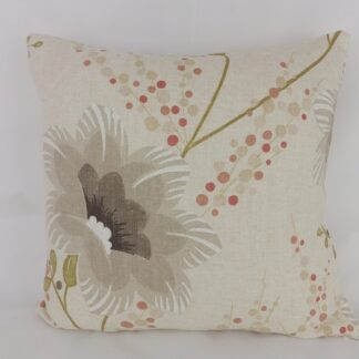 Coral Pink Designer Lily Cushions
