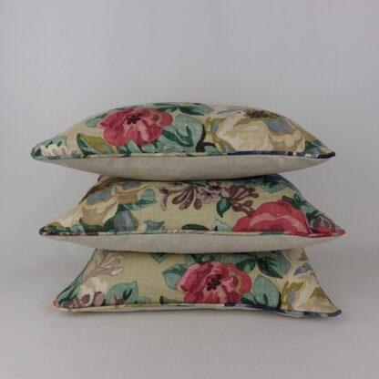 Sanderson Midsummer Vintage Rose Linen Cushions