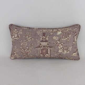 Purple Toile Cushion