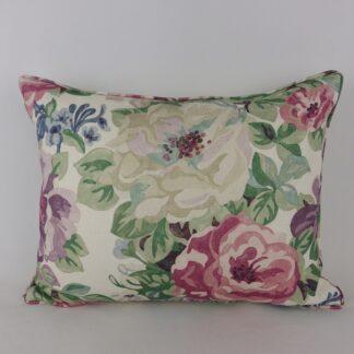 Large Sanderson Midsummer Rose Vintage Floral Cushion