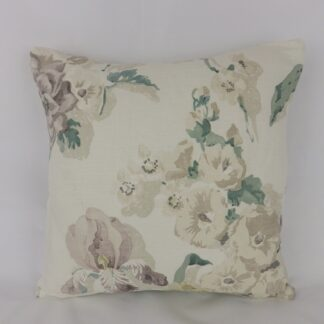 Faded Floral Linen Cushion