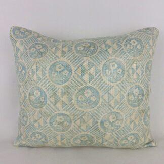 Blue Zoffany Diamonds and Flowers Cushion