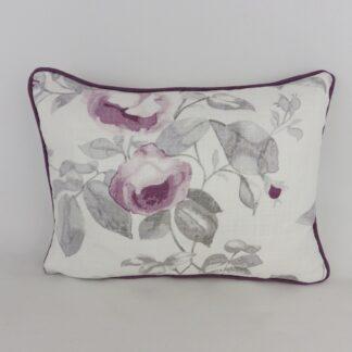 Laura Ashley Grace Purple Roses Lumbar Cushions