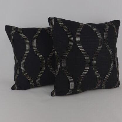 Modern Black Spot Wave Cushion